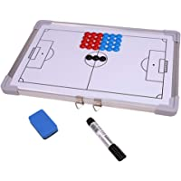 Football Coaching Board with 27pcs Magnet Magnetic Soccer Tactics Strategy Board Handhold Double Sided Magnetic Metal…