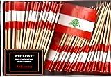 One Box Lebanon Toothpick Flags%2C 100 S