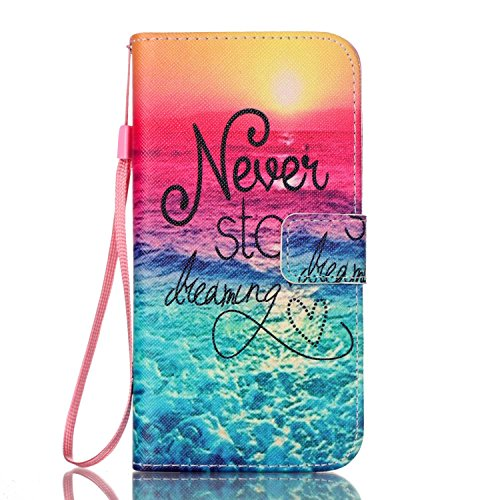 Samsung Galaxy S7 Edge Case,JinLi Printed Pattern Filio Wallet Cellphone Book Protective Cover Designed with Credit Card Slot and Money Holder and Kickstand for Hands Free video (sunset)