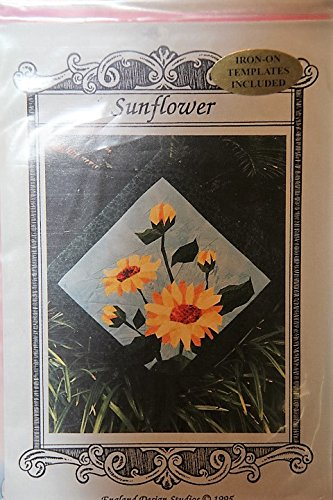 (Sunflower Quilt Pattern - Iron-On Templates Included - 12
