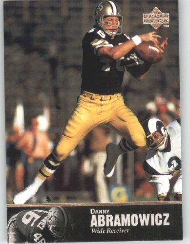 (1997 Upper Deck Legends Football Card # 74 Dan Abramowicz - New Orleans Saints - NFL Trading Card)