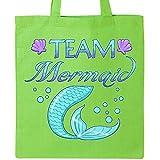 Inktastic - Team Mermaid Tote Bag Lime Green 2ef83