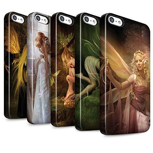 Officiel Elena Dudina Coque / Matte Robuste Antichoc Etui pour Apple iPhone SE / Pack 10pcs Design / Fées Élégantes Collection