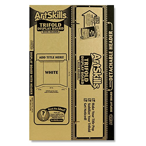 (ArtSkills Tri-Fold Display Board, Built in Header, 35.5
