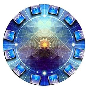 alfombrilla de ratón Círculo con los signos del zodiaco en los iconos - ronda - 20cm