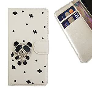 Cat Family Crystal Diamond Waller Leather Case Cover - FOR ZTE X3 - Panada -