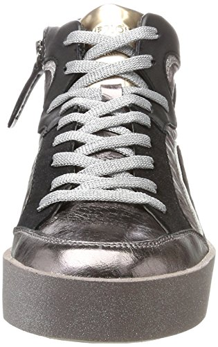 Crime London 25251a17b, Sneaker a Collo Alto Donna Multicolore (Rose Schwarz)