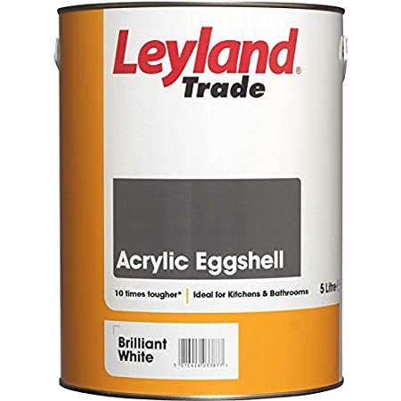 Leyland Trade Acrylic Eggshell Paint Brilliant White 5l