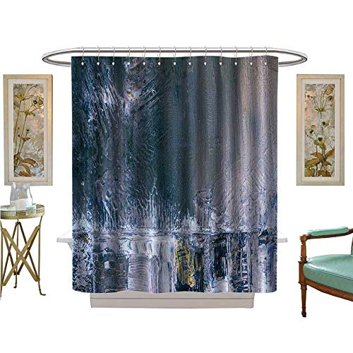 luvoluxhome Shower Curtains with Shower Hooks Painted Background Wallpaper Texture Acrylic Paint on Canvas Patterned Shower Curtain W48 x L84