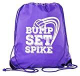 Cheap Mato & Hash Adult and Child Volleyball Drawstring Backpacks bags – Purple CA2500Volleyball S1
