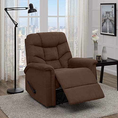 - Domesis Wall Hugger Dark Brown Microfiber Recliner