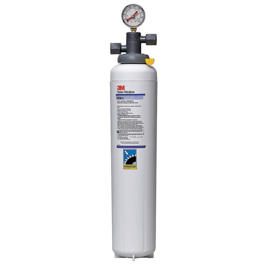 3M Water Filtration Products Filter System, Model ICE190-S, 54000 Gallon Capacity, 5 gpm Flow Rate, 0.2 Micron