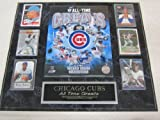 Cubs All Time Greats 6 Card Collector Plaque w/8x10 Photo