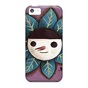 New Tpu Hard Case Premium Iphone 5c Skin Case Cover(snowman Leafs) by lolosakes