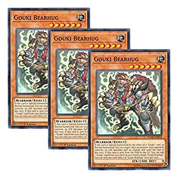 Yu-Gi-Oh! 【3 Pieces Set】 English Version FLOD-EN010 Gouki Bearhug Tobie Hag Bear (Normal) 1st Edition from Yu-Gi-Oh!