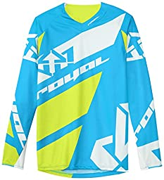 Royal Racing Long Sleeve Victory Race Jersey, Blue/Yellow/White, Large