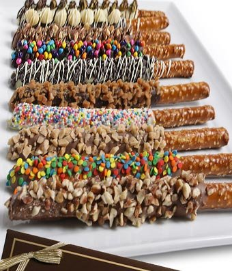 amazon com gifts chocolate covered pretzel logs 12 pieces