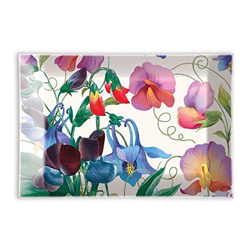 - Michel Design Works Rectangular Glass Soap Dish, Sweet Pea
