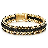 8.7 Inches Mens Steel Gold Color Curb Chain - Best Reviews Guide