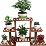 AIDELAI Flower Shelf Decoration Solid Wood Multiple Layers Balcony Living Room Flower Pot Rack Assembly Flower Racks Fresh Natural Patio Garden Pergolas