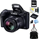 Cheap Canon Powershot SX410 IS 20MP 40x Optical Zoom HD Digital Camera (Black) 16GB Bundle Includes Spare Battery, Memory Card, Camera Bag, Card Reader, Card Wallet, Mini Tripod, Cleaning Kit, and More