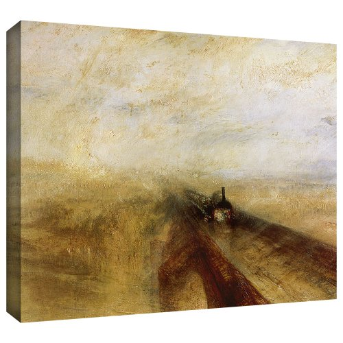 ArtWall 'Rain Steam and Speed, The Great Western Railway' Gallery-Wrapped Canvas Art by William Turner, 36 by 44-Inch