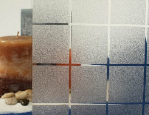 REUSABLE, Static Frosted Decorative Window Vinyl Film, Stained Glass Effect (1m x 90cm) ElegantBlocks Design