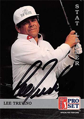Golf Pro Set Card (Lee Trevino autographed trading card (Golf, PGA Tour, SC) 1992 Pro Set Stat Leader #271)