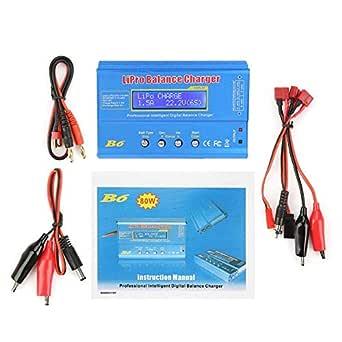 Amazon.com: Cargador de balance de batería B6 de 80 W LiPo ...