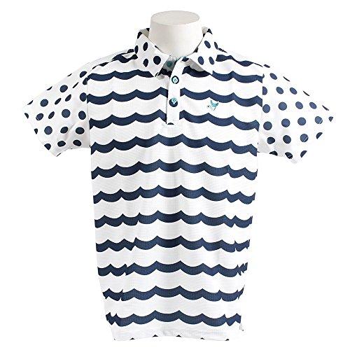 クランク(クランク) WAVEボーダーポロシャツ MC8S-NBD WHNVY (ホワイト×ネイビー/L/Men's)