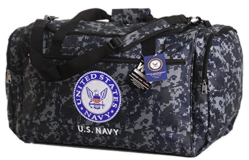 Us Bag (Us Military Official Licensed Duffle Gym Luggage Bag (US Navy)