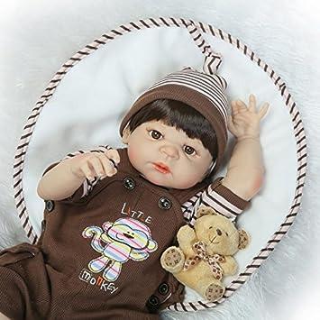 "Full Body Vinyl Silicone Girl Reborn Baby Doll Anatomically Correct Handmade 20/"""