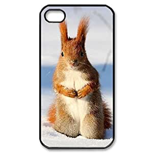 LZHCASE Diy Customized hard Case Squirrel For Iphone 4/4s [Pattern-1]