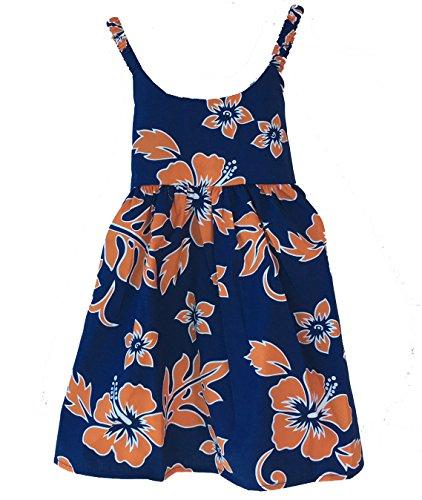 Alohawears Clothing Company Girl's Hibiscus Classic Cruise Luau Hawaiian Aloha Bungee Dress (6, -