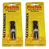 (2) FIRESTIK K-4A HEAVY DUTY CB RADIO ANTENNA STUD MOUNT SO-239