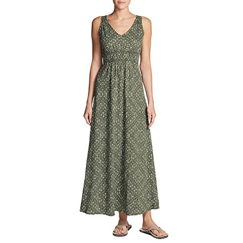 Eddie Bauer Women's Laurel Canyon Maxi Dress, Dk Thyme Tall M (Dress Thyme)