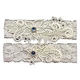 XSWPL Wedding Bridal Lace Garter Set Keepsake Toss Tradition Vintage
