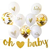 Gender Reveal Party Decorations for Gender Neutral Baby Shower, 13 Piece Set Includes Oh Baby Banner, Balloons and Baby Shower Planner for Memorable Event