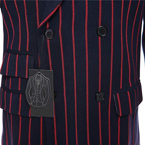 Slim 3 Jacket Lavoro Rosso E Nero Pant Giacca Donna Pantaloni Da Giacche Pezzi Ufficio Gilet Uniforme Professionale Cappotti Set Abiti Righe Formale A w88x6O