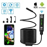 Wireless Endoscope Camera USB InspectionCamera 33FT 2MP 1200P HD BorescopeWaterproof WiFi SnakeCamera withLight for iPhone, Android, iOS,Samsung, iPad, Tablet