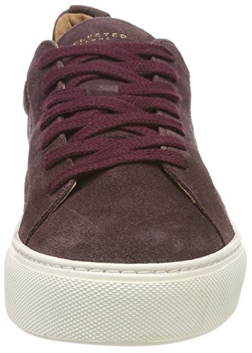 Selected Brown Sneakers Trainer Decadent Chocolate Low Suede Slfdonna Women's Top B Decadent Chocolate CxwHCpR