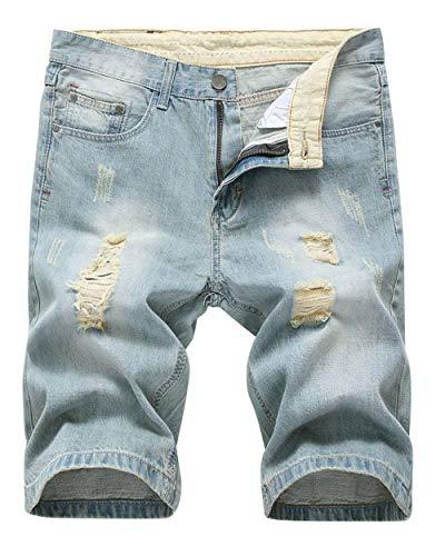 Fashion Di Fit Ragazzi Slim Corti Pantaloncini Rt Summer Stile Da Hellblau Retro Uomo Hole Jeans Classiche Nge Casual xnxOwFaqZ