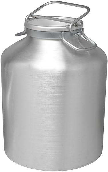 PARDINI Bidón de Aceite/Leche, Aluminio, Plata, 5 litros ...