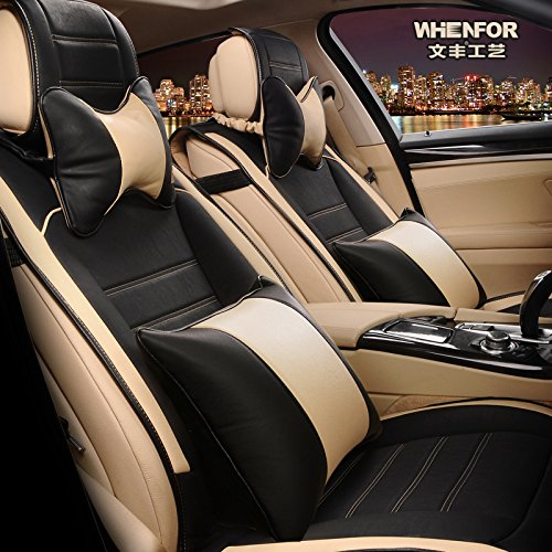 3D FRONTLINE PU Leather Car Seat Cover For Maruti Ciaz Beige Amazonin Motorbike
