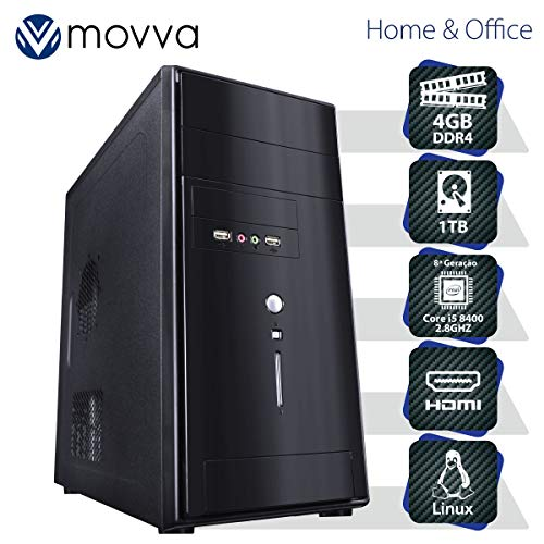 COMPUTADOR CARBON INTEL I5 8400 2.8GHZ 8ª GER. MEM. 4GB HD 1TB HDMI/VGA FONTE 350W - LINUX - MVCBI5H3101T4 - MOVVA