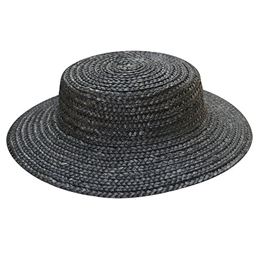 Lawliet Solid Color Straw Stripe Mini Top Hat