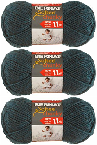 Bernat Softee Chunky Yarn, Super Bulky #6, 3 Skeins Teal 282