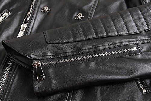 chaqueta negro Chaqueta para YYZYY hombre XwaqaR
