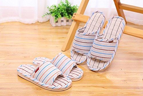 de Blue 40 et Sandales Pantoufles Size Maison Hommes Coton Femmes Lin de pour Orange Pantoufles GR et 41 Color de Glissement Pantoufles sans Lin wtRtIB