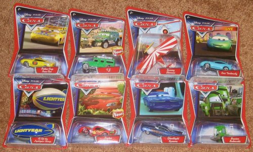 Mattel Set of Eight Disney Pixar Cars Character Diecast -...
